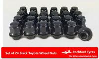 Black  Style Wheel Nuts 24 12x1.5 Nuts For Toyota Land Cruiser Prado J120 02-09