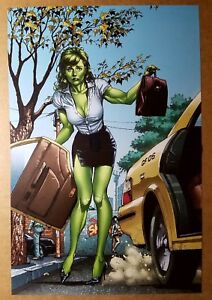 She-Hulk Marvel Comics Poster by Michael Del Mundo