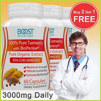 TURMERIC CURCUMIN ANTIOXIDANT EXTRACT + BIOPERINE 95% CURCUMINOIDS 60-CAPSULES