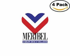 Meribel 4 Stickers 4X4 inches Sticker Decal