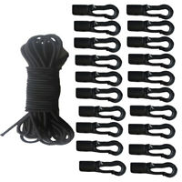 5mmx5m Elastic Bungee Rope Shock Cord Tie Down Marine Kayak + 20 Cord Hooks Ends