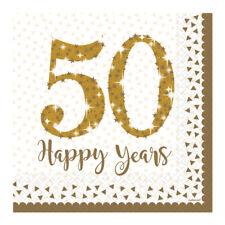 Goldene Hochzeit Party Servietten 50 Happy Years Motiv Tisch Deko Dekoration