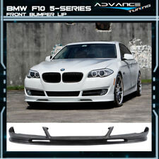 For 10-13 BMW F10 5 Series 3D Style Front Bumper Lip Unpainted PU Poly Urethane