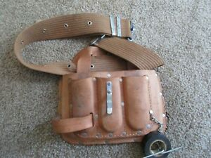 Leather Belt Tool Pouch with Web Belt