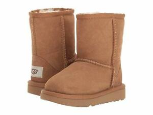 NEW TODDLER INFANT UGG BOOT CLASSIC II SHORT CHESTNUT 1017703T WATER RESISTANT