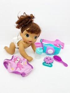 Baby Alive Crawling Baby Go Bye Brown Hair Hispanic Interaction Toy Accessories