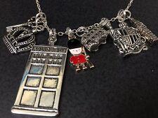 "London Big Ben Clock Guard Crest Crown Charm Tibetan Silver with 18"" Necklace"