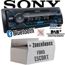 Sony Autoradio für Ford Escort DAB+/Bluetooth/MP3/USB Einbauzubehör Einbauset