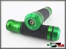 Kawasaki ZX12R ZRX1100 1200 ZXR400 Strada 7 CNC Grips & Bar Ends Combo Green