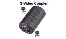 S-Video Female to Female Coupler For Combining 2 S-Video Cables into 1