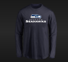 NFL Authentic Team Apparel Majestic Seattle Seahawks Long Sleeve New Mens Sizes