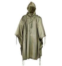 Military Style Nylon Poncho All Weather Rain Coat - OD Green