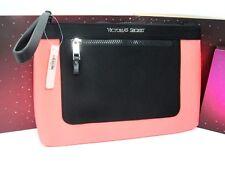 Victoria's Secret Bikini Bag Pink Colorblock Neoprene Beach Bag Zip Pouch, NWT