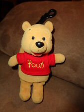 Pooh plush cell phone cover backpack clip on RARE