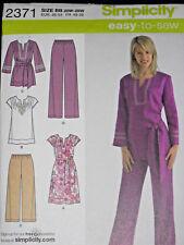 Tunic Dress Pants Women's size 20w-28w Simplicity 2371 Sewing Pattern