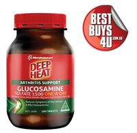 DEEP HEAT GLUCOSAMINE SULFATE 1500 ONE A DAY ARTHRITIS SUPPORT 180 TABLETS
