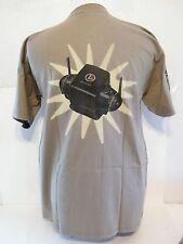 "Lionel Train T-Shirt ""Control Freak"" Model Railroad Men's Size Large Khaki Tan"