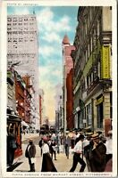 1919 Pennsylvania Postcard - Pittsburgh - Fifth Avenue at Wood Street Scene