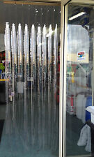 PVC Door Curtain Fly Strips Clear 900mm Wide