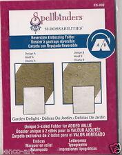Spellbinders M-Bossabilities Reversible Embossing Folder Garden Delight ES-008