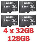 Lotto x4 Micro SD Sandisk 32GB - Memoria MicroSD Memory Card 32 GB - STOCK
