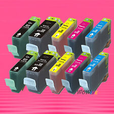 10P BCI-3e INK CARTRIDGE FOR CANON MP760 BJC-3000 3010