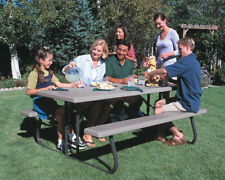 10 Pack - Lifetime 6 Ft. Plastic Folding Picnic Tables [82119] Putty Color