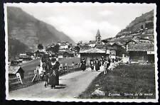 Switzerland~Suisse~1939 Evolene~Sortie de la messe~RPPC