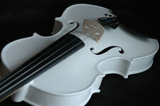 New 4/4 White Violin/Bow/Rosin/Case/Free U.S Shipping-Limited