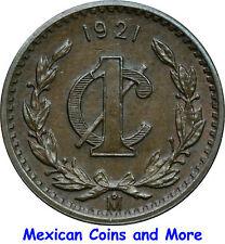 Mexico 1 Centavo Mo 1921 Bronze, UNC.