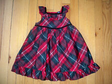 Baby Gap Size 18-24M Red Tartan Plaid Holiday Taffeta Dress