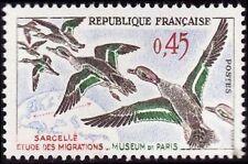 """FRANCE N°1275 """"OISEAUX, SARCELLES"""" NEUF xx TTB"""