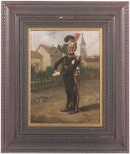"Eugene Cottin (1840-1902) ""Guard Officer on Village Street"", Oil Painting"
