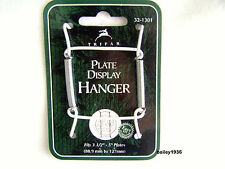 "Deluxe WHITE Plate Hangers 3.5""- 5"" Display Easel TRIPAR 32-1301"