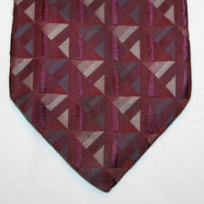NEW Croft & Barrow Silk Neck Tie Burgundy with Gray Pattern 1094
