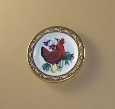 State Birds and Flowers Miniature Mini Plate Rhode Island Red Violet