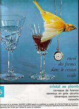 PUBLICITE ADVERTISING 1965 VILLEROY & BOCH  Cristal au Plomb