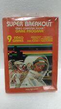 MIB 1981 ATARI SUPER BREAKOUT VIDEO COMPUTER SYSTEM GAME PROGRAM