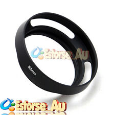 52mm Vented Curved Metal lens Hood For Leica Canon Nikon Sony Panasonic Olympus