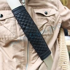 Black 2PCS Seat Safety Belt Protect Shoulder Pads Cushion Accessories Car Part