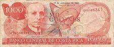 Costa Rica 1000 Colones  27.9.2004 Series and prefix D Circulated Banknote NSA13