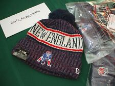 bddfd42846d New England Patriots New Era knit pom hat beanie NEW 2018-19 throwback  AUTHENTIC