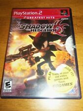 Playstation 2 PS2 Shadow the Hedgehog Case & Manual ONLY *Greatest Hits*