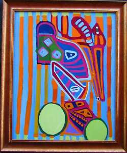 LISTED Louise Abrams Older Surreal Oil Painting From Her Estate #1 NO RESERVE
