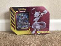 Pokemon Cards Tag Team Tin Mewtwo And Mew TCG *Free Shipping*