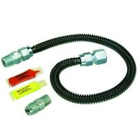 BrassCraft Black ProCoat Gas Installation Kit for Gas Log Fireplaces and Heaters
