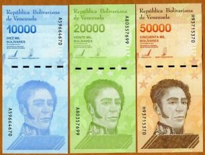 SET Venezuela, 10000-20000-50000 Bolivares 2019 (2020) P-New, UNC
