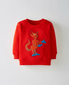 NWT HANNA ANDERSSON Dr. Seuss Red Character Sweatshirt  80 ~ 18-24 mo