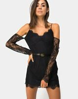 MOTEL ROCKS  Kusakina Dress in Lace Black Size Small  S (mr63)