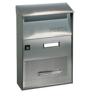 Cassetta postale posta buca porta lettere ALUBOX effe T acciaio inox per esterno
